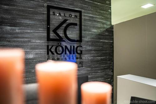 Salon König Werbeschild